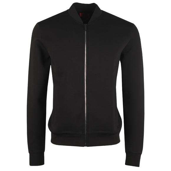 HUGO Mens Black Donsor Full Zip Sweatshirt