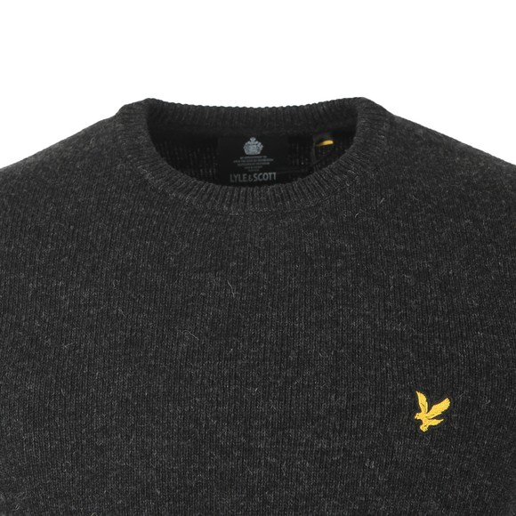 Lyle and Scott Mens Grey Crew Neck Lambswool Jumper main image