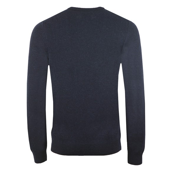 Lyle and Scott Mens Blue Crew Neck Lambswool Jumper main image