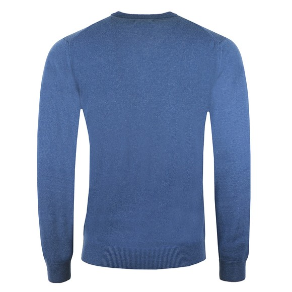 Gant Mens Blue Superfine Lambswool V-Neck Jumper main image