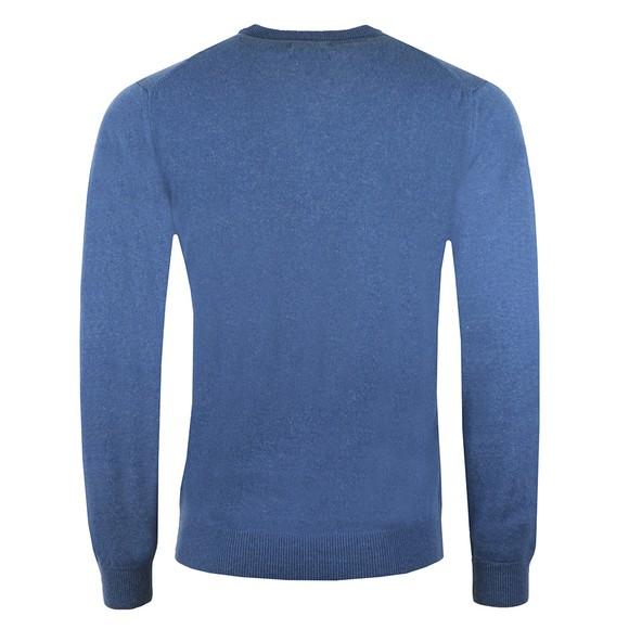 Gant Mens Blue Superfine Lambswool V-Neck Jumper main image
