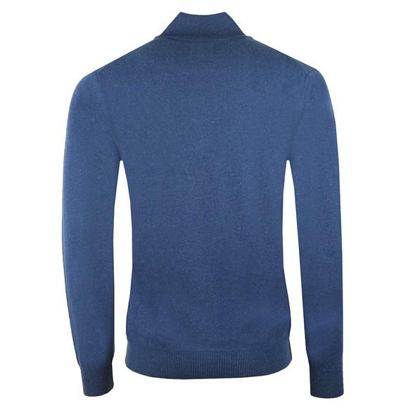 Gant Mens Blue Super Fine Lambswool Zip Jumper main image