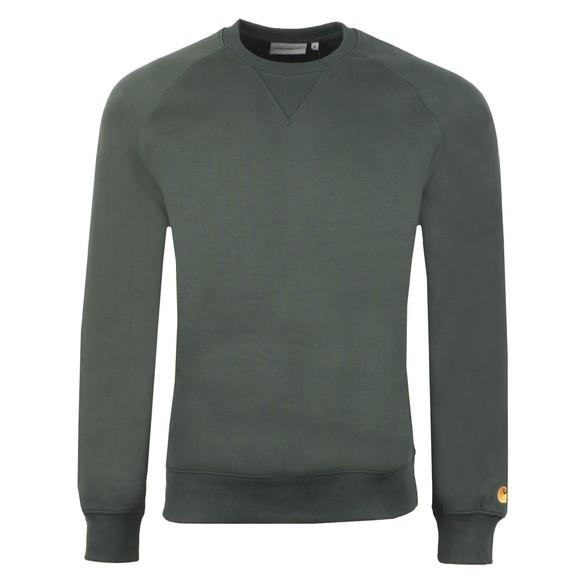 Carhartt WIP Mens Green Chase Sweatshirt