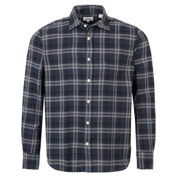Hartford Mens Blue Paul Check LS Shirt main image