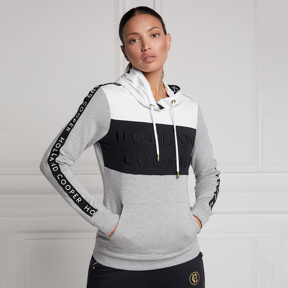 Holland Cooper Womens White Deluxe Hoody main image
