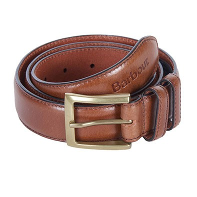 Barbour Lifestyle Mens Brown Belt Gift Box
