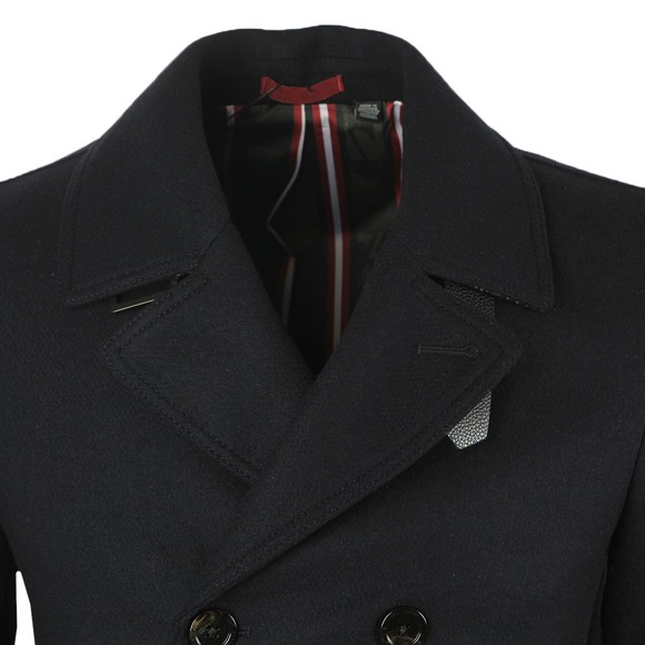 Ted Baker Mens Blue Summit Wool Peacoat