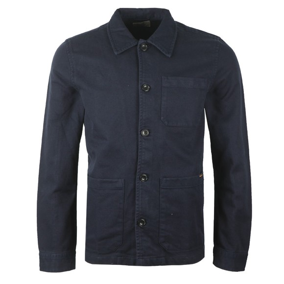 Nudie Jeans Mens Blue Barney Thick Overshirt main image