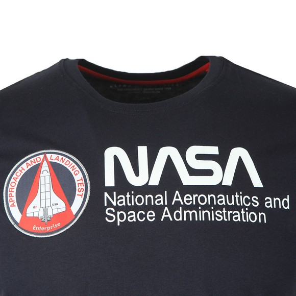 Alpha Industries Mens Blue NASA Retro T-Shirt