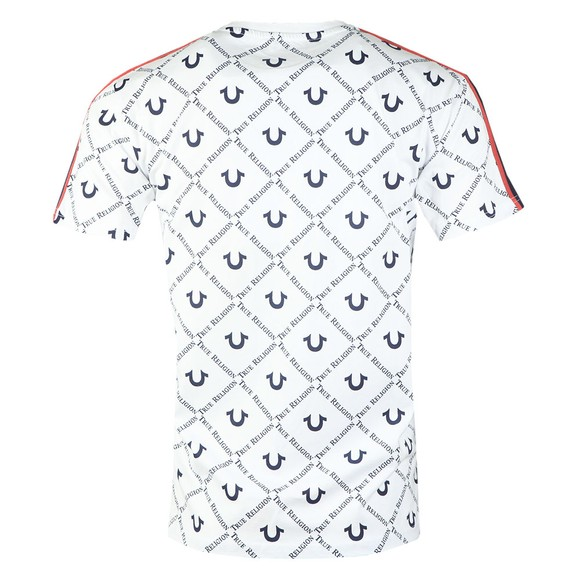 True Religion Mens White Jude SS Logo AOP T-Shirt main image