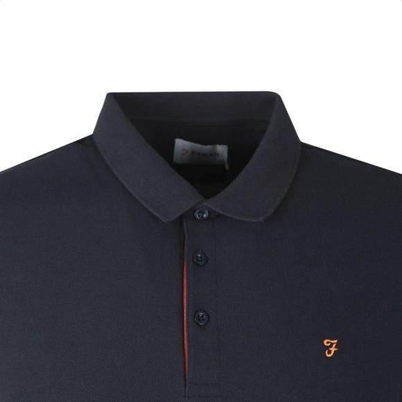 Farah Mens Blue Wade Pique Polo Shirt