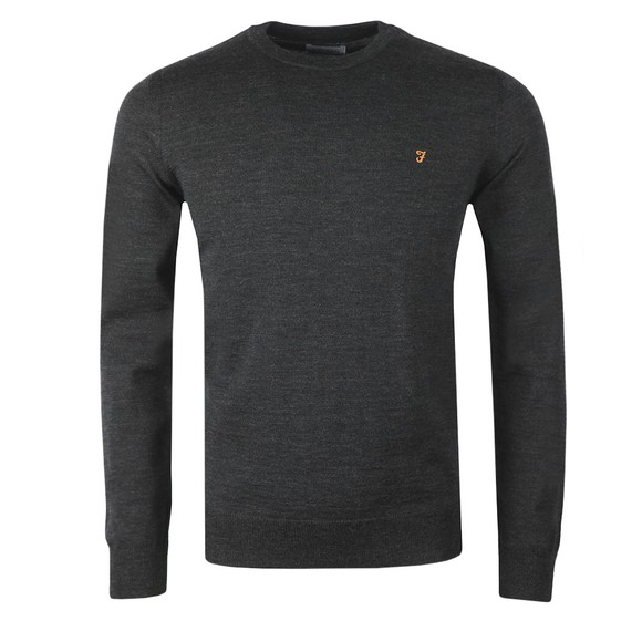 Farah Mens Grey Mullen Wool Crew Jumper