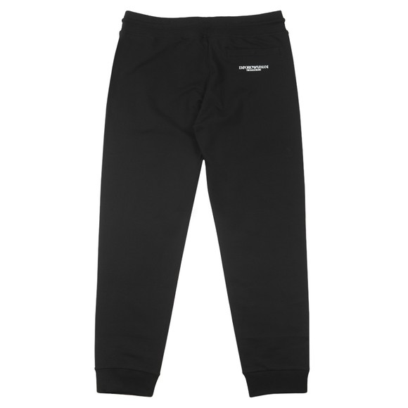 Emporio Armani Mens Black The Eagle Brand Basic Jogger