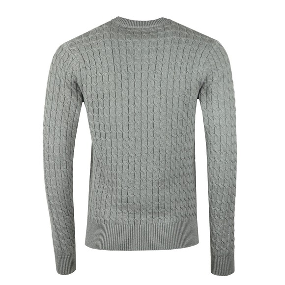 Luke Sport Mens Grey Carter Johnson Cable Knit Jumper main image