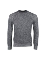 Plated Crew Neck Rib Jumper