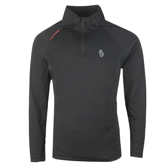 Luke Sport Mens Black Indicator Overhead Zip Funnel Neck Sweatshirt main image