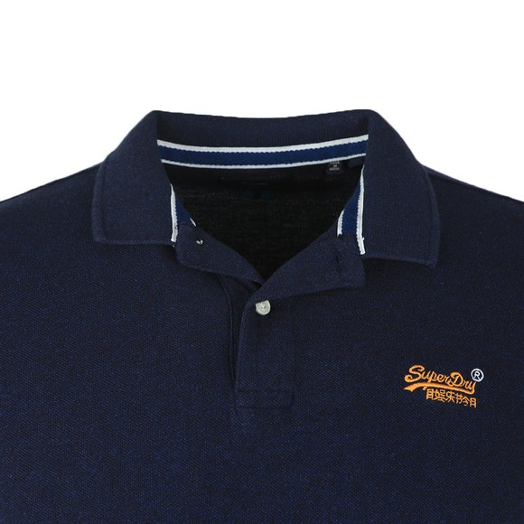 Superdry Mens Blue Classic Pique Polo Shirt