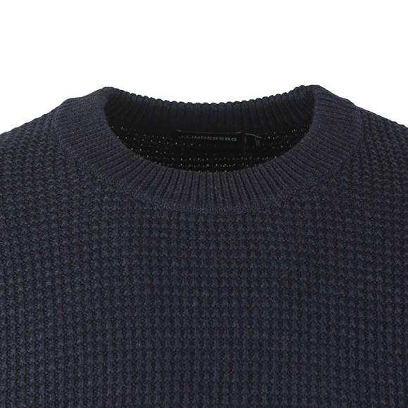 J.Lindeberg Mens Blue Oliver Structure Sweatshirt main image
