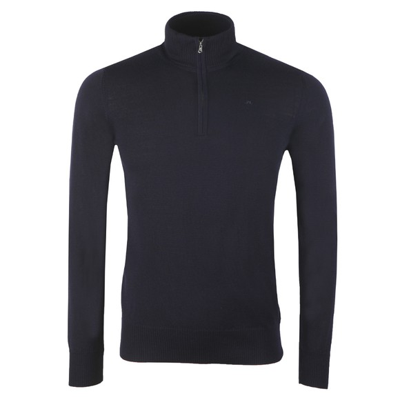 J.Lindeberg Mens Blue Lane Quarter Zip Jumper main image