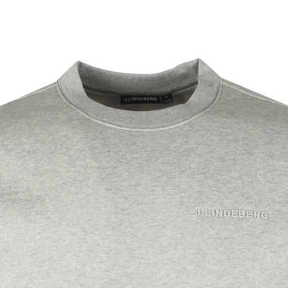 J.Lindeberg Mens Grey Chip Crew Neck Sweatshirt main image
