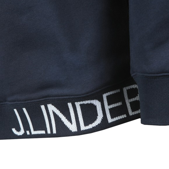 J.Lindeberg Mens Blue Tucker Jacquard Sweatshirt main image