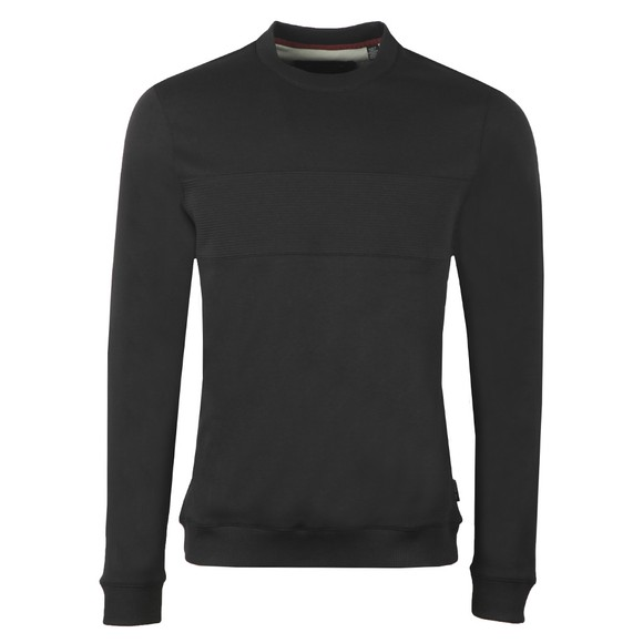 Ted Baker Mens Black Paneled Sweatshirt