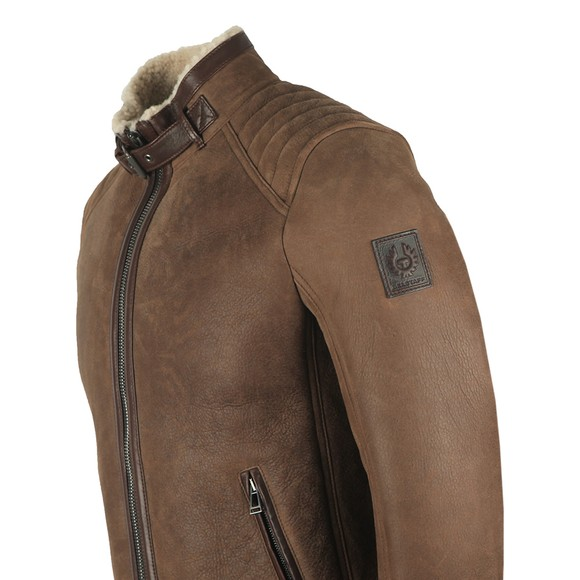 Belstaff Mens Brown Westlake Suede Shearling Jacket
