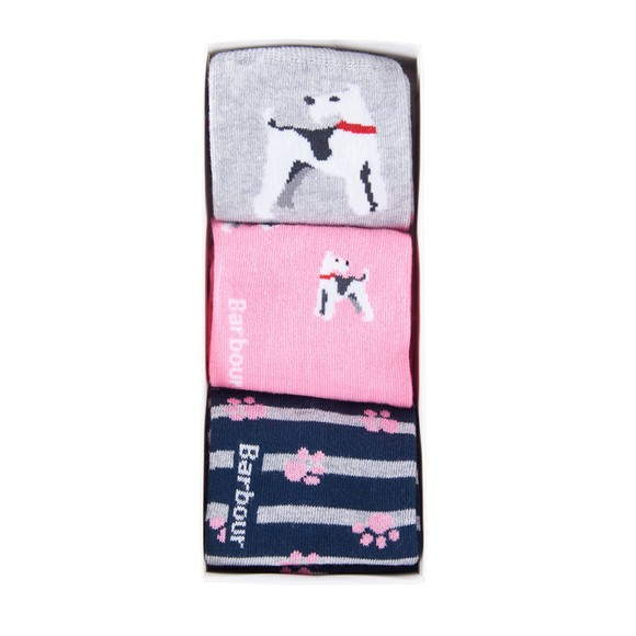 Barbour Lifestyle Womens Multicoloured Paw Sock Gift Box