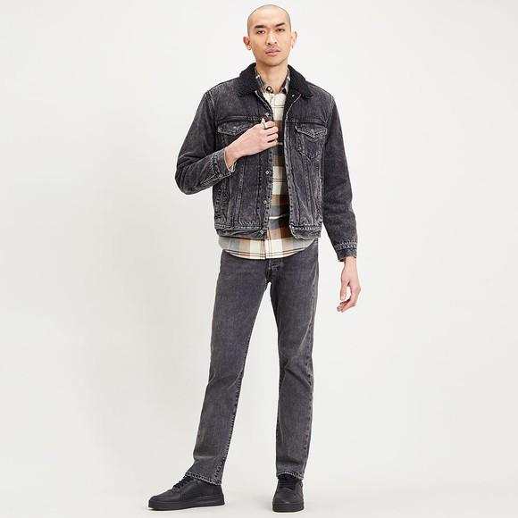 Levi's ® Mens Black Sherpa 3 Trucker Jacket main image