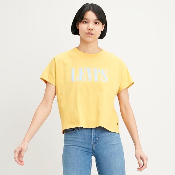 Levi's ® Womens Yellow Varsity Text Crew Tee