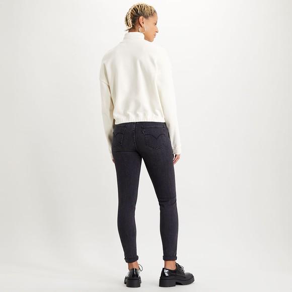 Levi's ® Womens Off-White POM Quarter Zip Sweatshirt main image