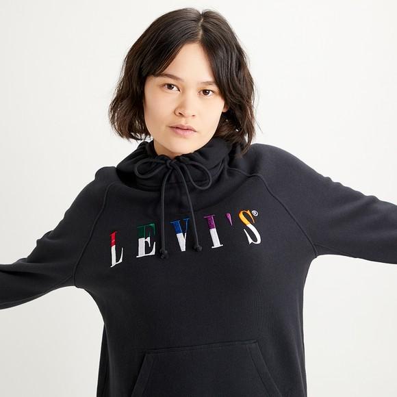 Levi's ® Womens Black Graphic Sport Serif Split Hoody main image