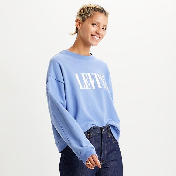 Levi's ® Womens Blue Graphic Diana Crew Sweatshirt