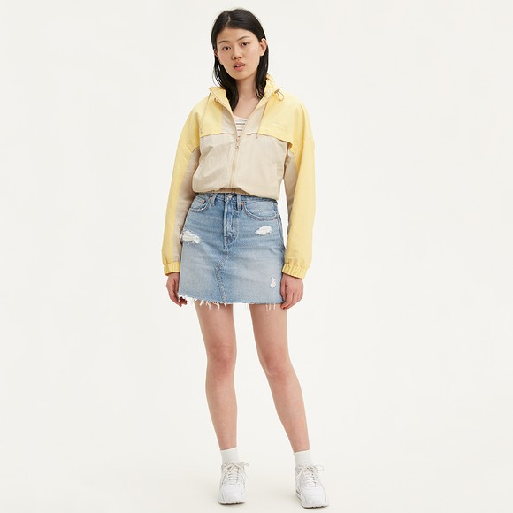 Levi's ® Womens Blue High-Rise Deconstructed Skirt main image