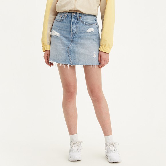 Levi's ® Womens Blue High-Rise Deconstructed Skirt