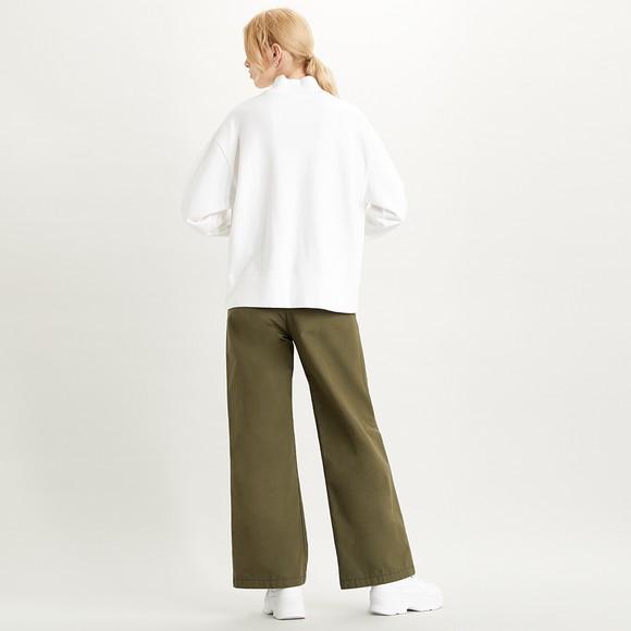 Levi's ® Womens Off-White Varsity Logo Applique High Neck Sweatshirt main image