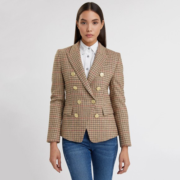 Holland Cooper Womens Beige Knightsbridge Blazer