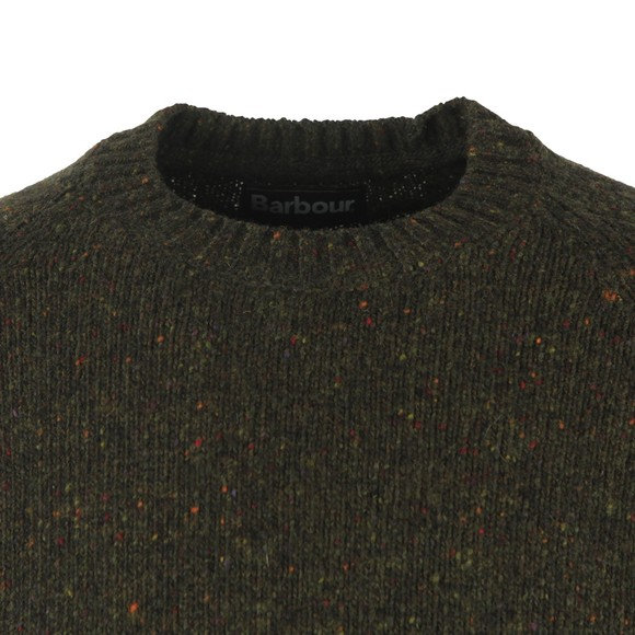 Barbour Lifestyle Mens Green Netherton Crew Jumper main image