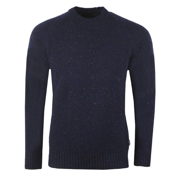 Barbour Lifestyle Mens Blue Netherton Crew Jumper