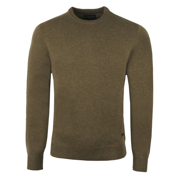 Barbour Lifestyle Mens Green Patch Crew Jumper main image