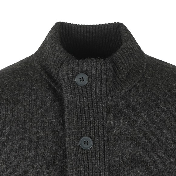 Barbour Lifestyle Mens Grey Patch Zip Through Jumper