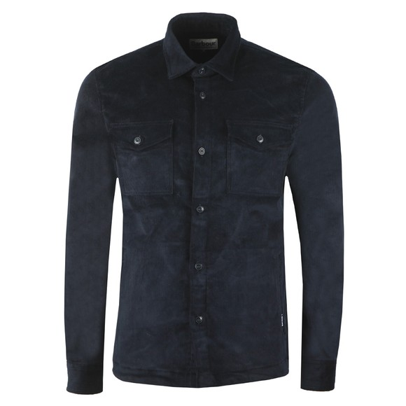 Barbour Lifestyle Mens Blue Cord OverShirt main image