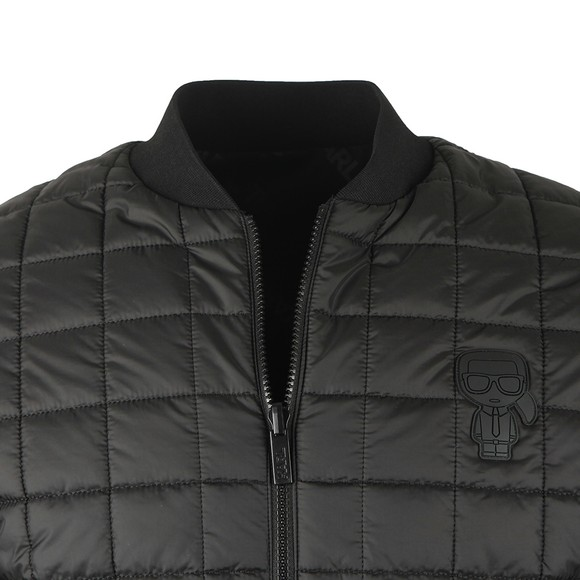 Karl Lagerfeld Mens Black Reversible Bomber main image