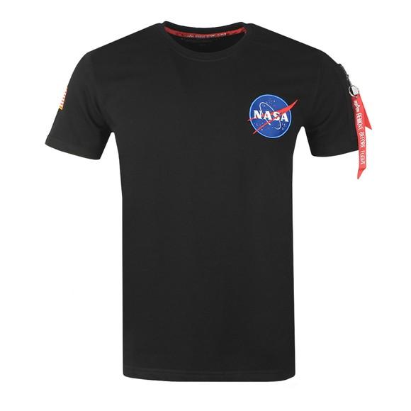Alpha Industries Mens Black NASA Heavy T-Shirt