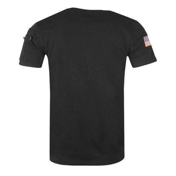 Alpha Industries Mens Black NASA Heavy T-Shirt main image