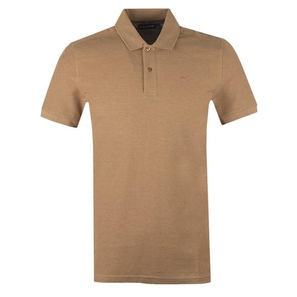 J.Lindeberg Mens Beige Troy Clean Pique Polo Shirt