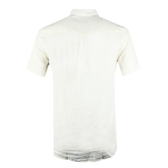 J.Lindeberg Mens Off-White Daniel Linen Melange Short Sleeve Shirt main image