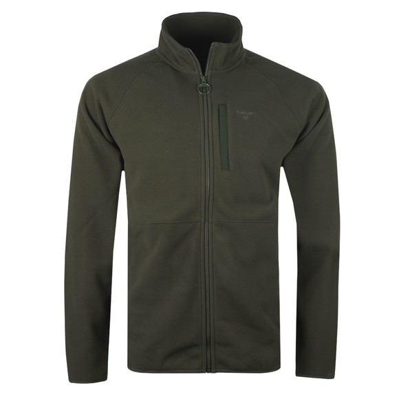 Barbour Lifestyle Mens Green Fleece Zip Through