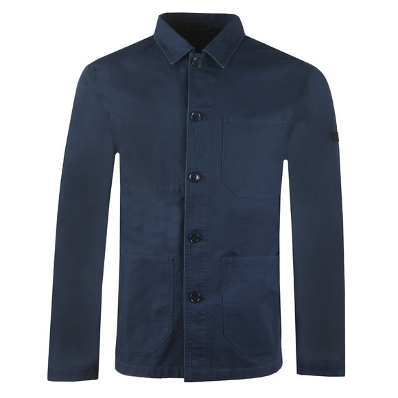 Barbour International Mens Blue Utility Overshirt main image