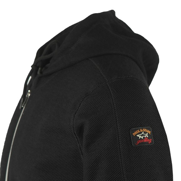 Paul & Shark Mens Black Textured Zip Hoody